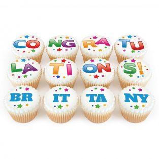 12 Congratulations Cupcakes