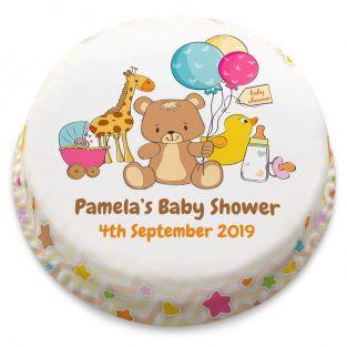 Unisex Baby Shower Cake