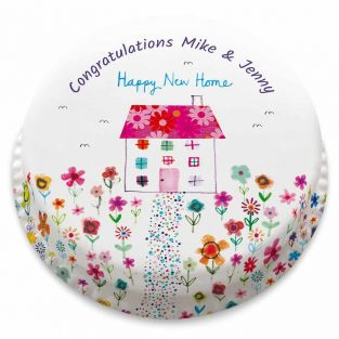 Floral New Home Cake