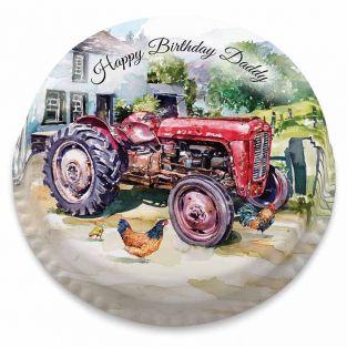 Watercolour Tractor Cake