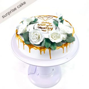 Floral Marry Me Cake