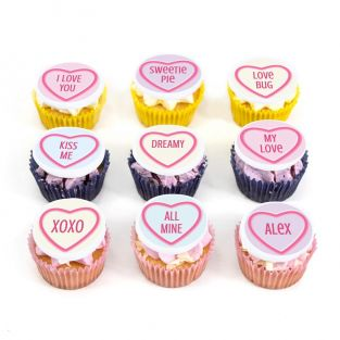 9 Love Heart Cupcakes