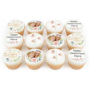 Pastel Flower Cupcakes