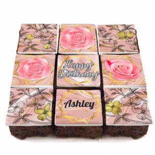 9 Pink Marble Brownies