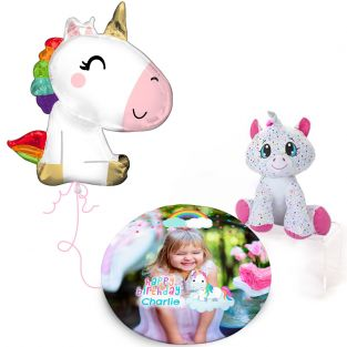 Rainbow Unicorn Plush Gift Set