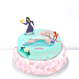 Disney Mulan Tiered Cake
