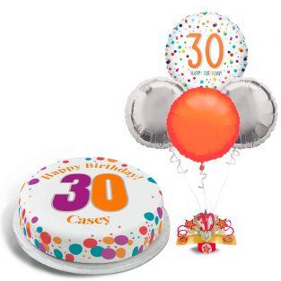 30th Rainbow Dots Gift Set