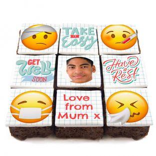 Emoji Get Well Soon Brownies