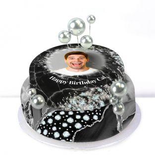 Black Balloons Cake