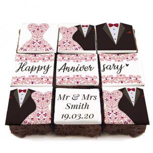 Wedding Dress Brownies
