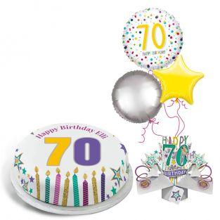70th Rainbow Dots Gift Set