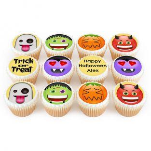 12 Pumpkin Cupcakes
