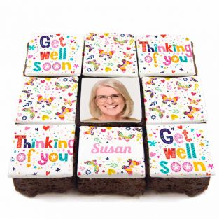 Get Well Soon Butterfly Brownies