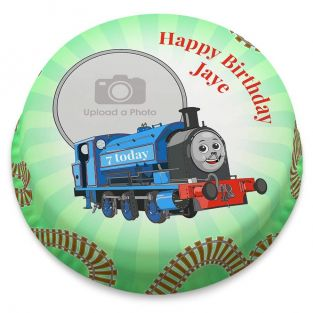 Blue Train Photo Cake