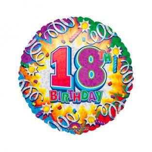 Colourful 18th Birthday Balloon