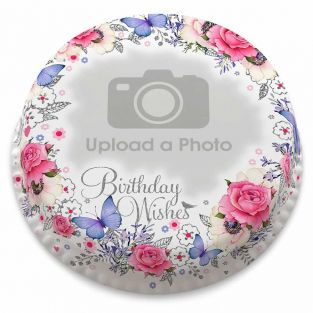 Birthday Wreath Photo Cake
