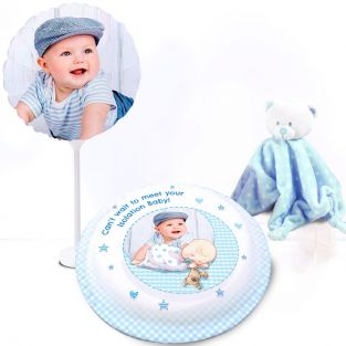 Blue Baby Teddy Gift Set