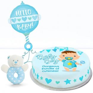 baby boy rattle gift set