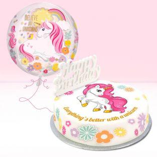 Flowers Unicorn Gift Set