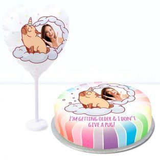 Rainbow Pug Gift Set
