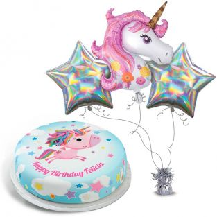Glitzy Silver Unicorn Gift Set