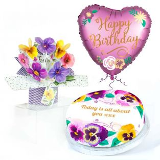 Flowery Birthday Gift Set