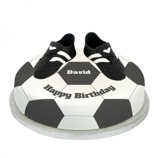 Black Football Boots Cake