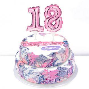 18th Birthday Ombre Cake