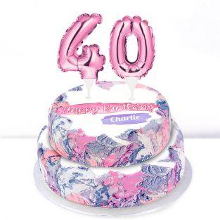40th Birthday Ombre Cake