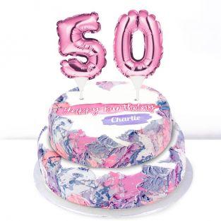 50th Birthday Ombre Cake