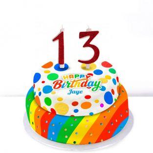 13th Birthday Polka Dot Cake
