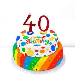 40th Birthday Polka Dot Cake