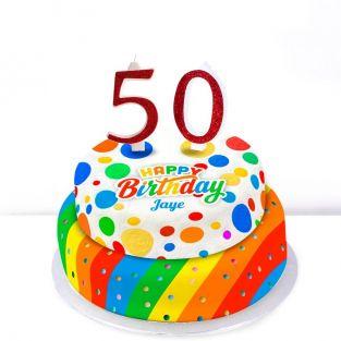 50th Birthday Polka Dot Cake