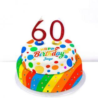60th Birthday Polka Dot Cake