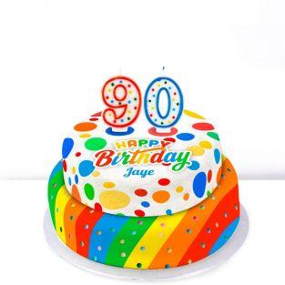 90th Birthday Polka Dot Cake