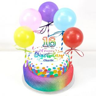 16th Birthday Balloons Cake