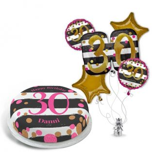 30th Black and Gold Gift Set