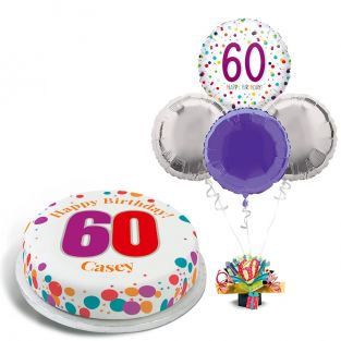 60th Rainbow Dots Gift Set