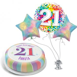 21st Iridescent Rainbow Gift Set