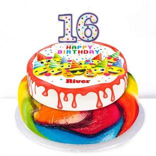 16th Birthday Emoji Cake