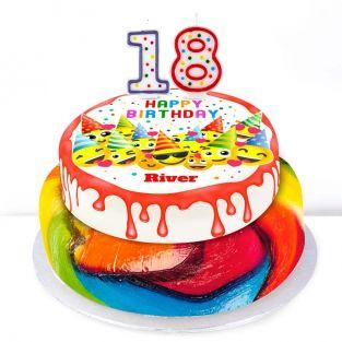 18th Birthday Emoji Cake