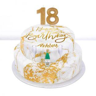 18th Birthday Champagne Cake