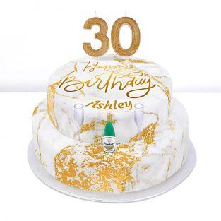 30th Birthday Champagne Cake