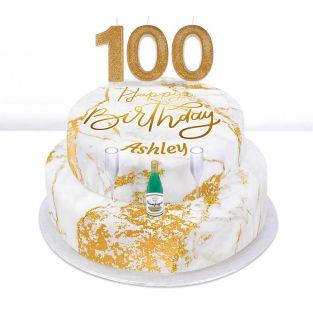100th Birthday Champagne Cake