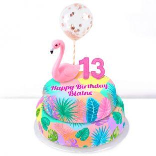13th Birthday Flamingo Cake