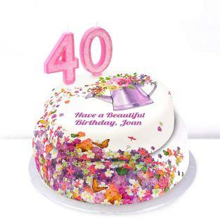 40th Birthday Gardening Cake