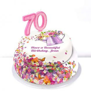 70th Birthday Gardening Cake