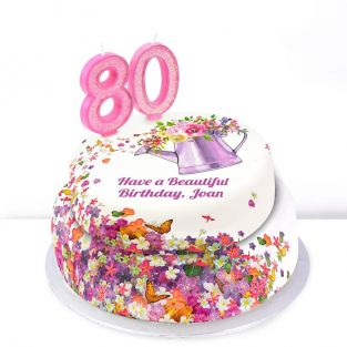 80th Birthday Gardening Cake