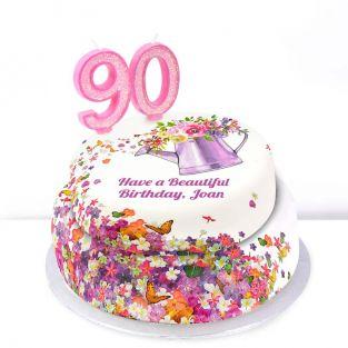 90th Birthday Gardening Cake