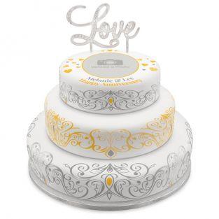 Anniversary Tiered Photo Cake